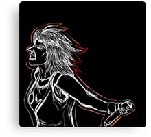 Hayley Williams White on Black  Canvas Print