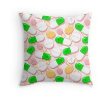 Deadly Pills Pastel Pattern Throw Pillow