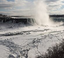 Winter Wonderland - Spectacular Niagara Falls Ice Buildup  by Georgia Mizuleva