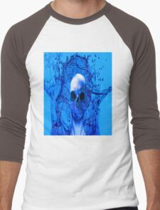 Alien Blue Men's Baseball ¾ T-Shirt