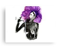 Purple Drinks Canvas Print
