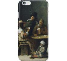Hieronymus Bosch - Josse Van Craesbeeck - Card Players 1645 iPhone Case/Skin