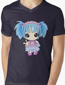 Cute little anime girl Mens V-Neck T-Shirt