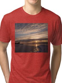 New Day on Ice - Sunrise on Lake Ontario  Tri-blend T-Shirt