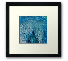 Blue Agate abstract Framed Print
