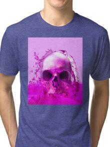 Purple Skull in Water Tri-blend T-Shirt