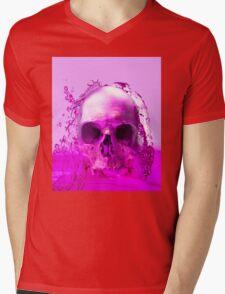 Purple Skull in Water Mens V-Neck T-Shirt