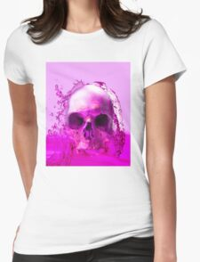 Purple Skull in Water Womens Fitted T-Shirt