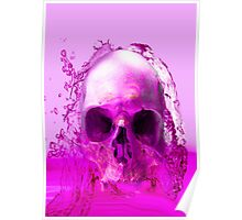 Purple Skull in Water Poster