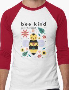 Save The Bees! Men's Baseball ¾ T-Shirt