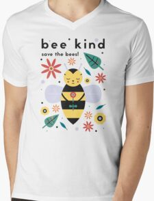 Save The Bees! Mens V-Neck T-Shirt