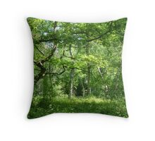 Ancient English Woodland Throw Pillow