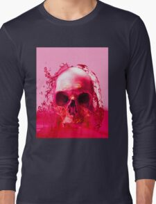 Red Skull in Water Long Sleeve T-Shirt