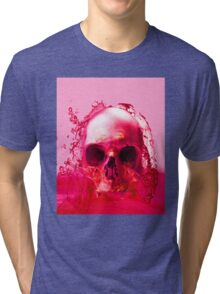Red Skull in Water Tri-blend T-Shirt