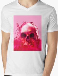 Red Skull in Water Mens V-Neck T-Shirt