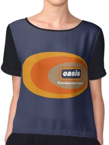 Oasis - Do Y'Know What I Mean? Chiffon Top