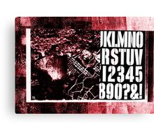 S Stencil (red industrial texture) Canvas Print