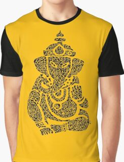 Ink Rain Ganesha Graphic T-Shirt