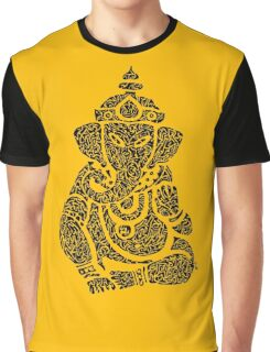 Ink Rain Ganesha Graphic T-Shirt