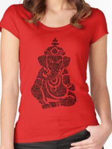 Ink Rain Ganesha Women's Fitted Scoop T-Shirt
