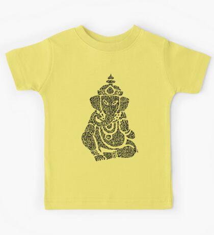 Ink Rain Ganesha Kids Tee