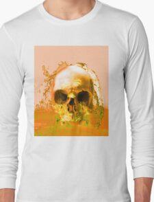 Golden Skull in Water Long Sleeve T-Shirt