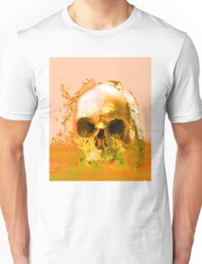 Golden Skull in Water Unisex T-Shirt