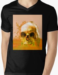 Golden Skull in Water Mens V-Neck T-Shirt