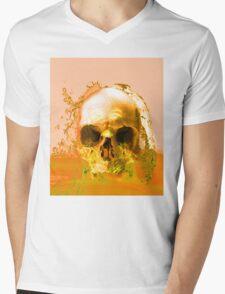 Golden Skull in Water Mens V-Neck T-Shirt