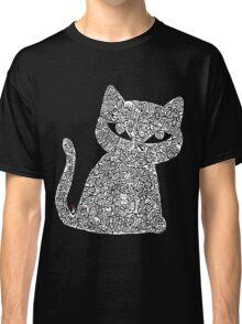 White Ink Rain Cat T-shirt Classic T-Shirt