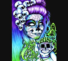 Dai de los Muertos, Twins Purple Unisex T-Shirt