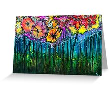 Flowers That Only  Fireflies See Greeting Card