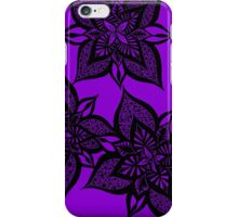 Floral Fantasy in Purple iPhone Case/Skin