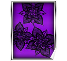 Floral Fantasy in Purple Poster