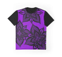 Floral Fantasy in Purple Graphic T-Shirt