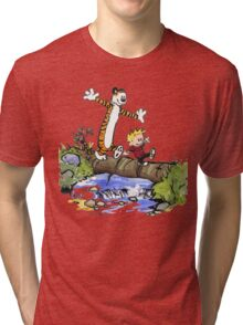 Calvin and Hobbes Adventure Tri-blend T-Shirt
