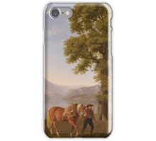 Johann Jakob Biedermann (Winterthur  Zurich)  A Ploughman with his Horse, Lake Lucerne iPhone Case/Skin