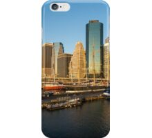 Early Morning Harbor - Lower Manhattan Skyline and South Street Seaport Historic Ships iPhone Case/Skin