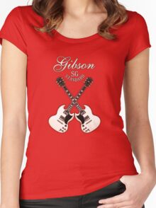 White Gibson SG  Women's Fitted Scoop T-Shirt