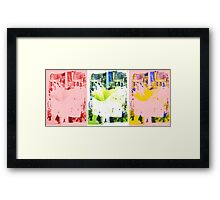 Mixed Colours Bloc Pattern  Framed Print