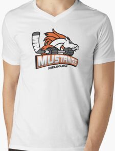 Original Logo - Black Outline Mens V-Neck T-Shirt