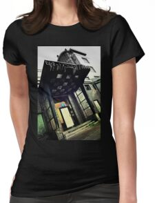 Restaurant entrance Womens Fitted T-Shirt