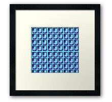 Patterned Blue Bloc Framed Print