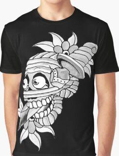 Knife Skull Graphic T-Shirt