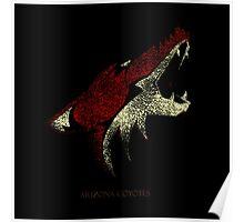 Arizona coyotes Logo Bluringg Poster