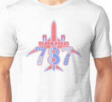 Red and Blue 787 Unisex T-Shirt