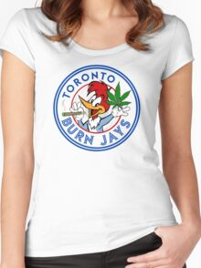 Toronto Burn Jays Women's Fitted Scoop T-Shirt