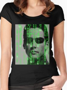 The Matrix - Neo Women's Fitted Scoop T-Shirt