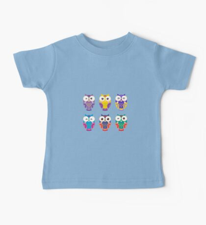 Funny owls on a branch Baby Tee