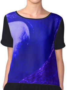 Abstract Wave Chiffon Top